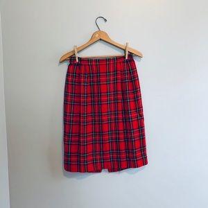 Vintage plaid pencil skirt